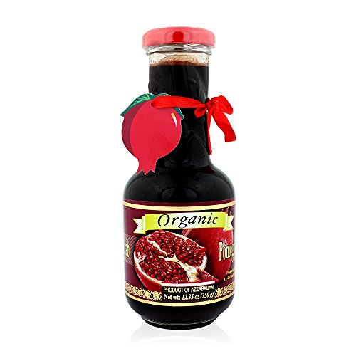 (Pow Organic Pomegranate Molasses Sauce 12.35 Oz Glass Bottle)
