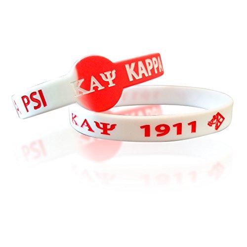 Price comparison product image Kappa Alpha Psi Fraternity Silicone Bracelets (2 Bracelets per Pack)