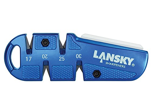 Lansky QuadSharp Carbide/Ceramic Multi Angle Knife Sharpener, Blue 2-Pack