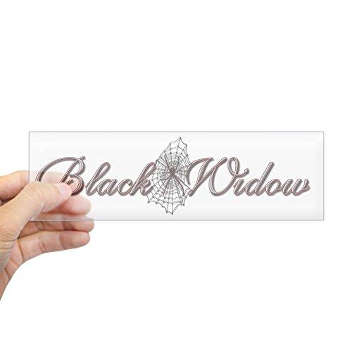 Halloween Express Black Widow (CafePress Black Widow Bumper Sticker 10