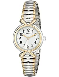 Women's T21854 Pleasant Street Two-Tone Stainless Steel Expansion Band Watch