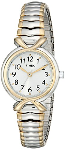 Timex+Women%27s+T21854+Elevated+Classics+Two-Tone+Expansion-Band+Watch