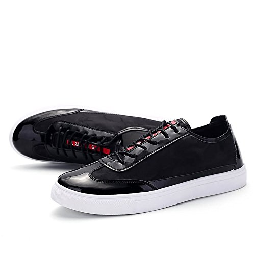 Black Shoes Lace Shopping Easy Heel Cricket Go British Flat Shoes Printing Sneaker up Men's Tide qYn6SP6B