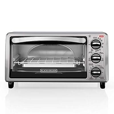 BLACK+DECKER TO1313SBD Decker To1313Sbd 4Slice Toaster Oven, Black (Certified Refurbished)