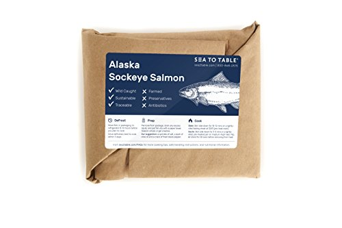 Sea to Table Wild-Caught Alaska Sockeye Salmon Fillets, 12 oz. -