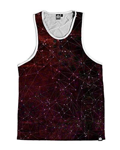 INTO THE AM Zodiac Men's Sleeveless Tank Top Shirt - Red (Medium) (Best Tank Top Designs)