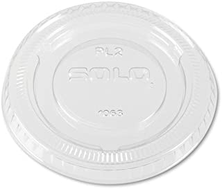product image for SCCPL2 - Solo PL2 Clear Plastic No-Slot Lid for 1.5 amp; 2 Ounce Cups