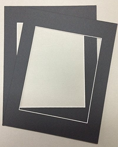 Pack of 2 24x36 Black Picture Mats with White Core, for 20x30 Pictures by bux1 picture matting