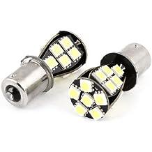 DealMux 2 Pcs Branco 21 LED 5050 SMD Erro gratuito Ligue lâmpada de sinal Bulb 1156 para carro