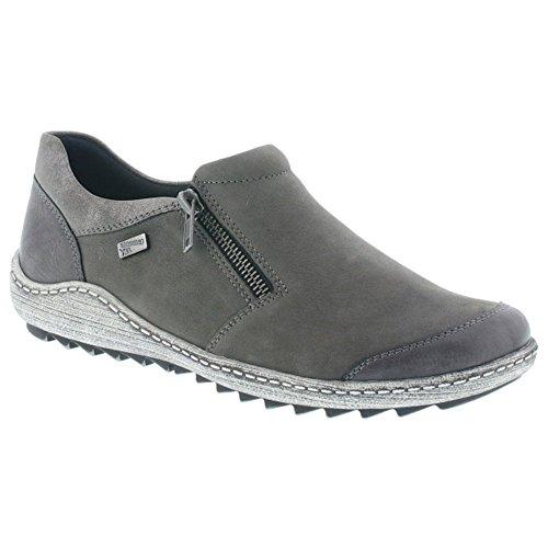 Gri Fumo Slip R1403 Shoes on Casual Womens Remonte cWq0PwY4q