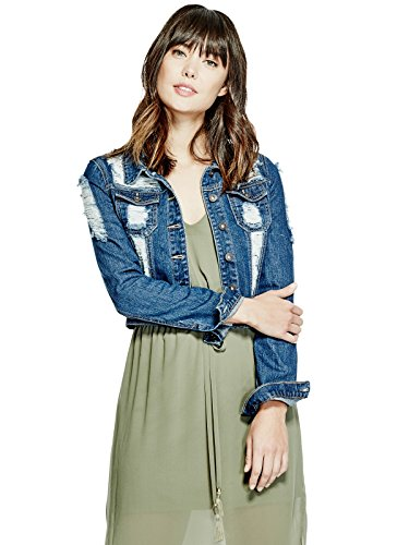 GUESS-Womens-Destroyed-Denim-Jacket