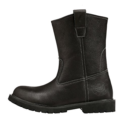 WUXING Men's Autumn And Winter Cowhide Outdoor High Boots(8 B(M)US,black)