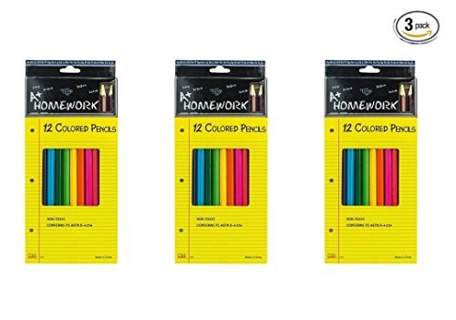 Homework Assorted Colored Non Toxic Pre Sharpened product image