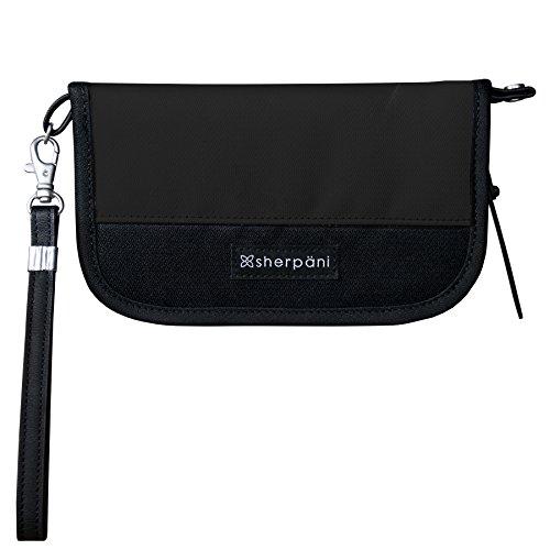 Sherpani Lucky RFID Wristlet, Raven (Travel Wallet Sherpani)