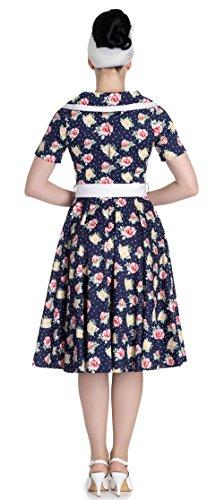 mit Bunny Emma Rosen Damen Rosen Floral Kleid Dunkelblau Swingkleid Hell 8d1RWqR
