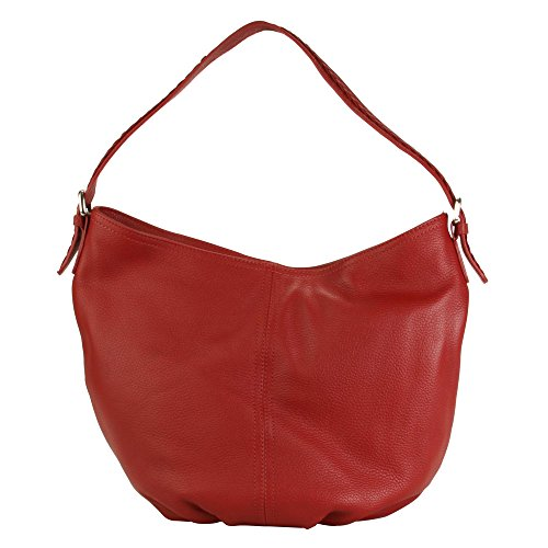 Bombay Red Deep Collection Hobo Leather Shoulder Slouchy Hadaki Bag wq6HOaH