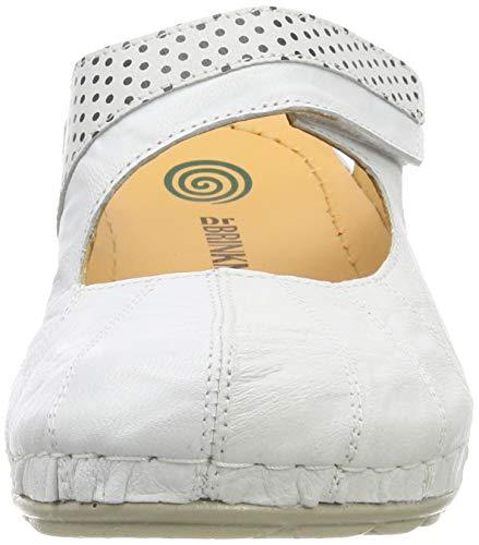 701204 Dr Damen Schwarz Brinkmann Pantolette Weiß 3 qq8IwU