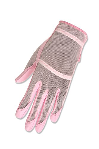 (HJ Glove Women's Pink Solaire Full Length Golf Glove, Medium, Left Hand)