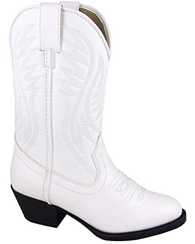 Smoky Mountain Girls' Mesquite Western Boot Round Toe White 3 D ()