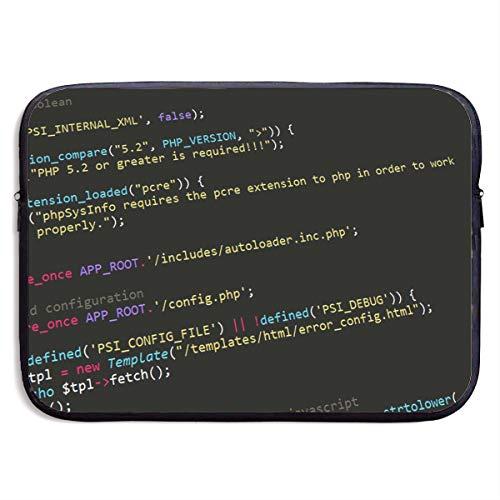 Fonsisi 15 Inch Laptop Sleeve Computer Case Programming Soft Neoprene Laptop Bag IPad Pro Bag