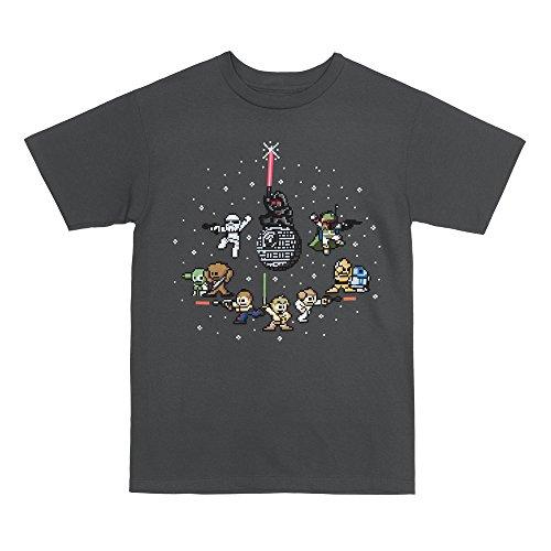 Star Wars 8 Bit Galaxy Men's T-Shirt (X-Large)