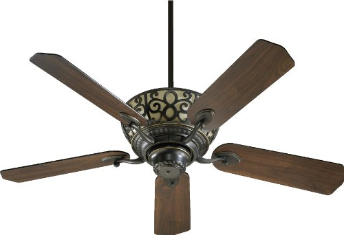 69525-95 Cimarron 5-Blade Ceiling Fan with Reversible Blades and Scavo Up Light, 52-Inch, Old World Finish ()