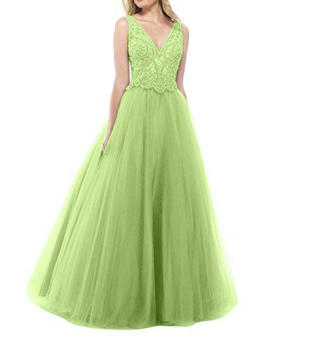 Partykleider Tanzenkleider Prinzess La Promkleider Salbei Langes mia Brau Abendkleider Tuell Abschlussballkleider Spitze vYaZT7Yqnw