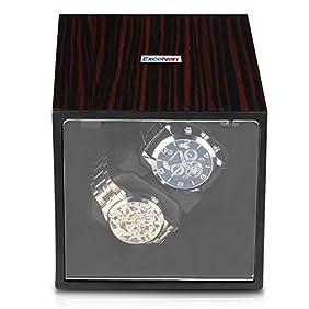 Excelvan Watch Winder Automatic Rotation Storage Display Case Box