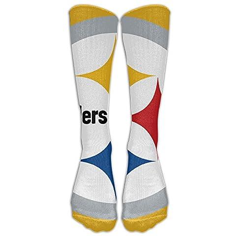 Unisex 2016 Football Pittsburgh Steelers Logo Tube Socks Knee High Sports - Pittsburgh Steelers Logo Nylon