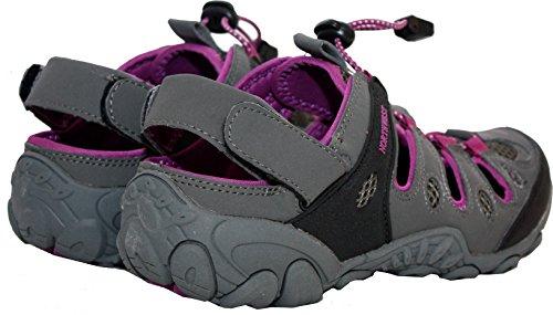 Girls UK Sizes 4 Shoes Purple Athletic Walking Womens Sandals Hiking Grey Sports Territory 8 Outdoor Trainers Northwest Ladies BtASS7