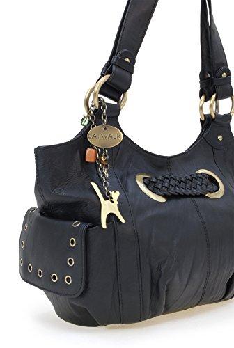 Collection Noir en signé Sac Catwalk besace cuir