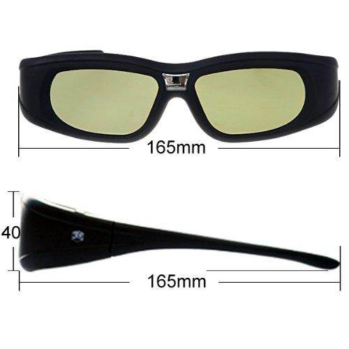 2 Pack DLP-Link 3D Aktiv Shutter Brillen f/ür Optoma ViewSonic Acer BenQ Dell Beamer
