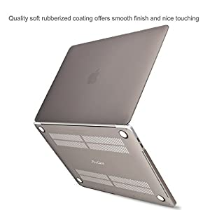 MacBook Pro 13 Case 2016 A1706/A1708, ProCase Rubberized Hard Case Shell Cover and Keyboard Skin Cover for Apple Macbook Pro 13 Inch (2016 Release) with/without Touch Bar and Touch ID -Grey