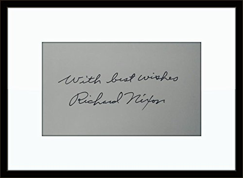 Framed Richard Nixon Authentic Autograph with Certficate of Authenticity