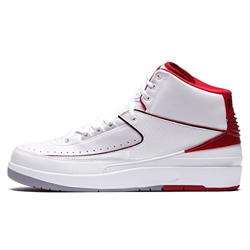 (NIKE air Jordan 2 Retro BG hi top Trainers 395718 Sneakers Shoes (UK 4 US 4.5Y EU 36.5, White Black Varsity red Cement Grey 102))