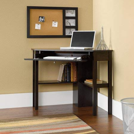 Home Office Corner Computer Desk Table Workstation Furniture Laptop Notebook Computer PC Study Writing Reading Cinnamon Cherry
