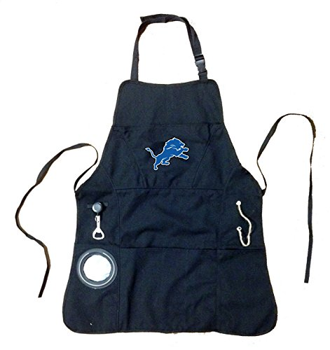 Ashley Gifts Customizable Embroidered Apron, Mens, Detroit Lions Detroit Lions Embroidered Towel