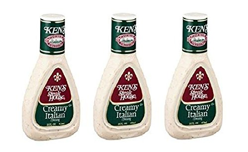 Ken's Steak House Creamy Italian Dressing (Pack of 3) 16 oz (Kens Italian Dressing)