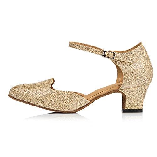 misu - Zapatillas de danza para mujer Multicolor negro/dorado hPnggk