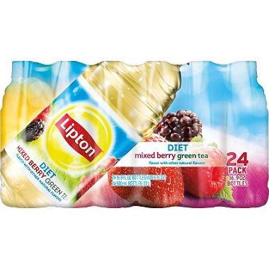 - Lipton Diet Green Tea with Mixed Berry (16.9 oz. bottles, 24 pk.)