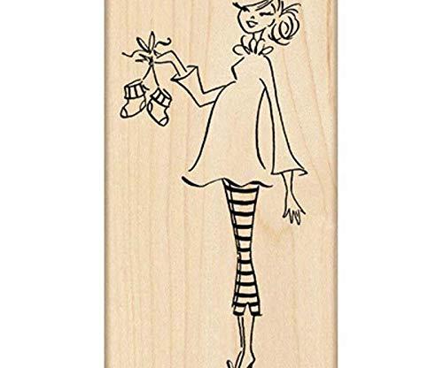 I'm Pregnant - Rubber Stamp On Wood (1ks), Penny Black, Inc, Rubber, Stamps, Scrapbooking Paper