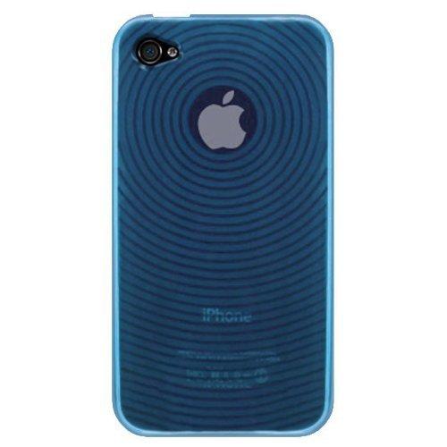Katinkas KATIP41032 Soft Cover für Apple iPhone 4 Circle hellblau