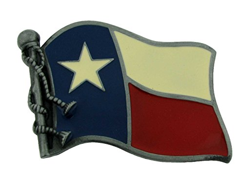 The Big State of Texas US Belt Buckle Rodeo Western Unisex Wavy Flag Western New from buckleszone