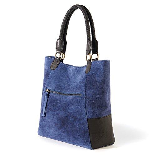 La Redoute Collections Frau Handtasche Aus Leder Blau PXqsy4RPsJ