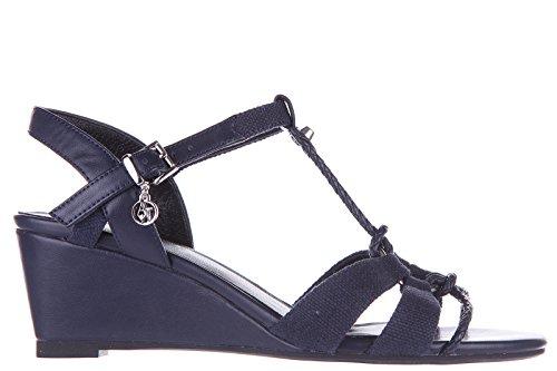 Armani Jeans blu Damen Sandaletten zeppe Sandalen rrwOd8q
