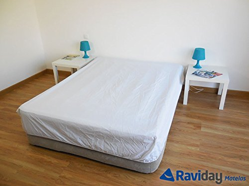 Sábana bajera para colchón hinchable 1 o 2 personas, blanco, 160 x ...