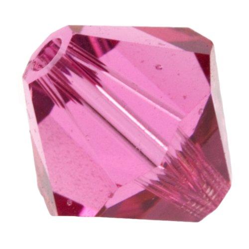 8mm Rose 5301 Bi-cone Swarovski Crystal Beads - Pack Of 6