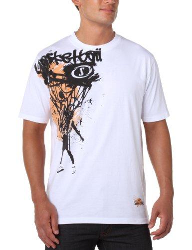 Spalding Herren T-Shirt Authentic Graphic, weiß (white), XXL, 300206601