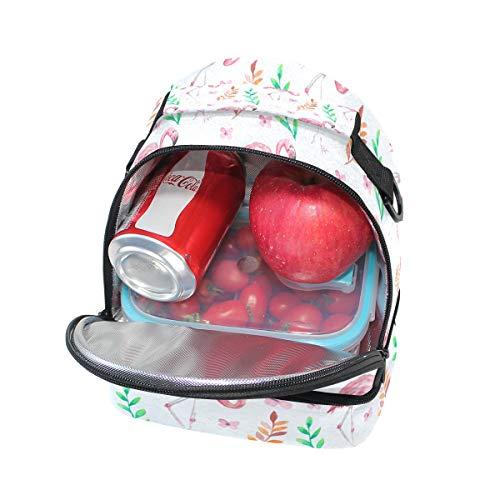 lunch réglable bandoulière Tote Boîte Sac motifs pour aquarelle Rose avec Cooler à à Flamingo l'école isotherme Pincnic Alinlo qPwXHxpw