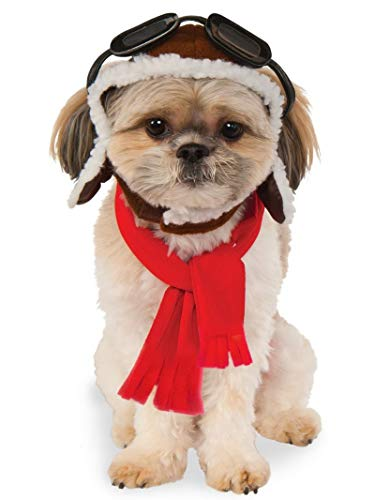 Pet Aviator Hat and Scarf Set, Small/Medium